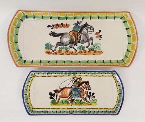 Cowboy & CowGirl Set of 2 Trays
