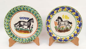 Horse Plates Sets of 2 Pieces Multi-colors