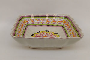 Flower Square Bowl in Purple colors