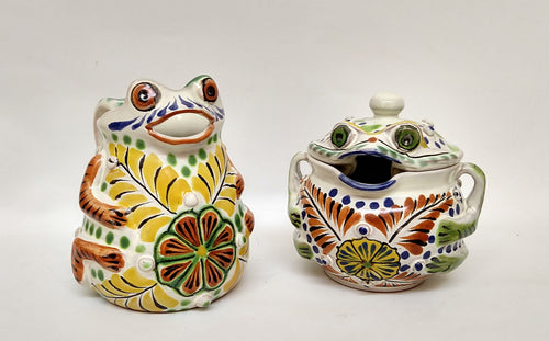 Frog Set Creamer and Sugar Set (2 pieces)