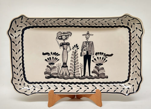 Catrina Tray Decorative / Serving Rectangular Platter 10.6 X 16.9