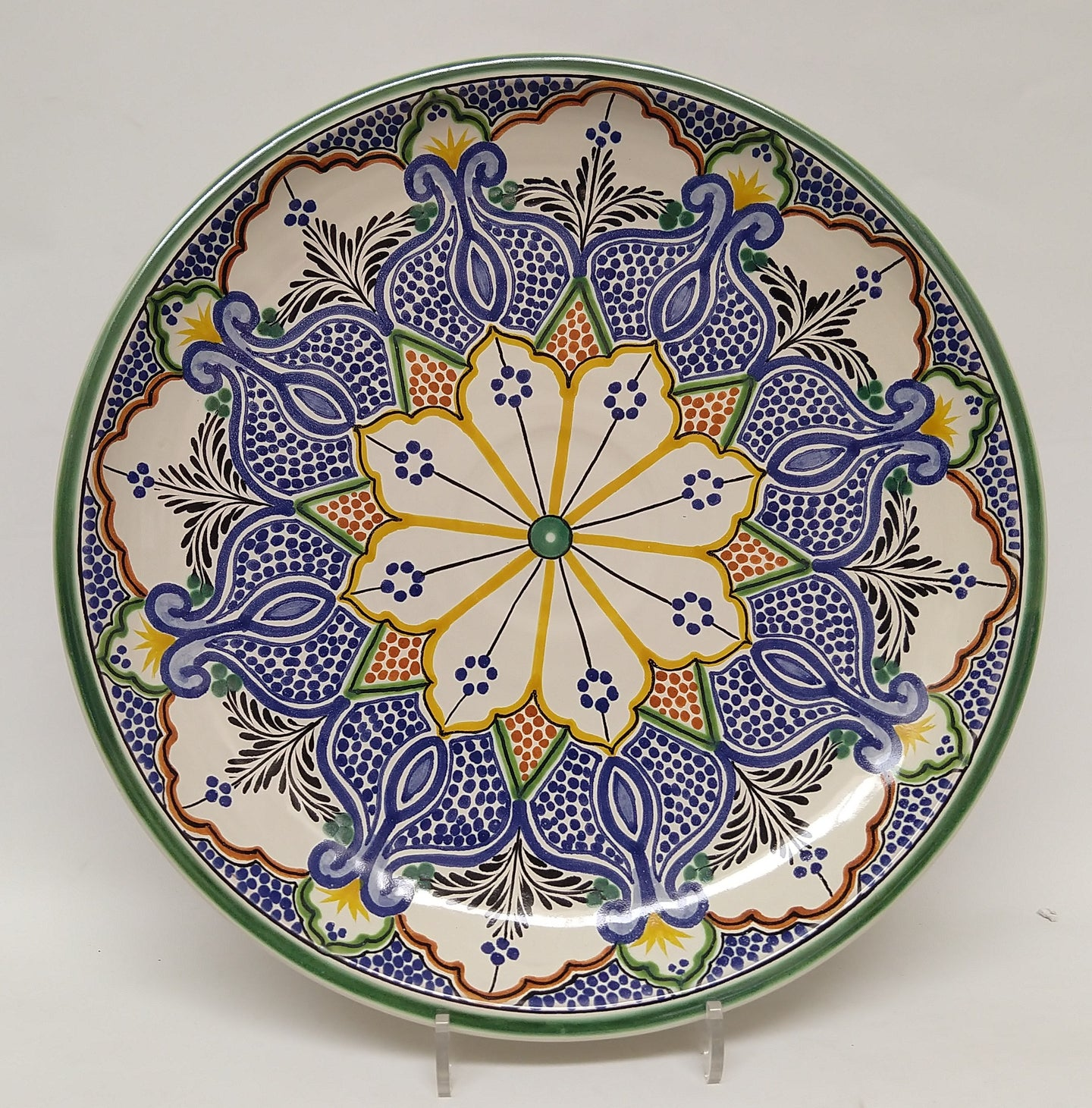 Decorative Platters Pomegranate Pattern Multi-colors