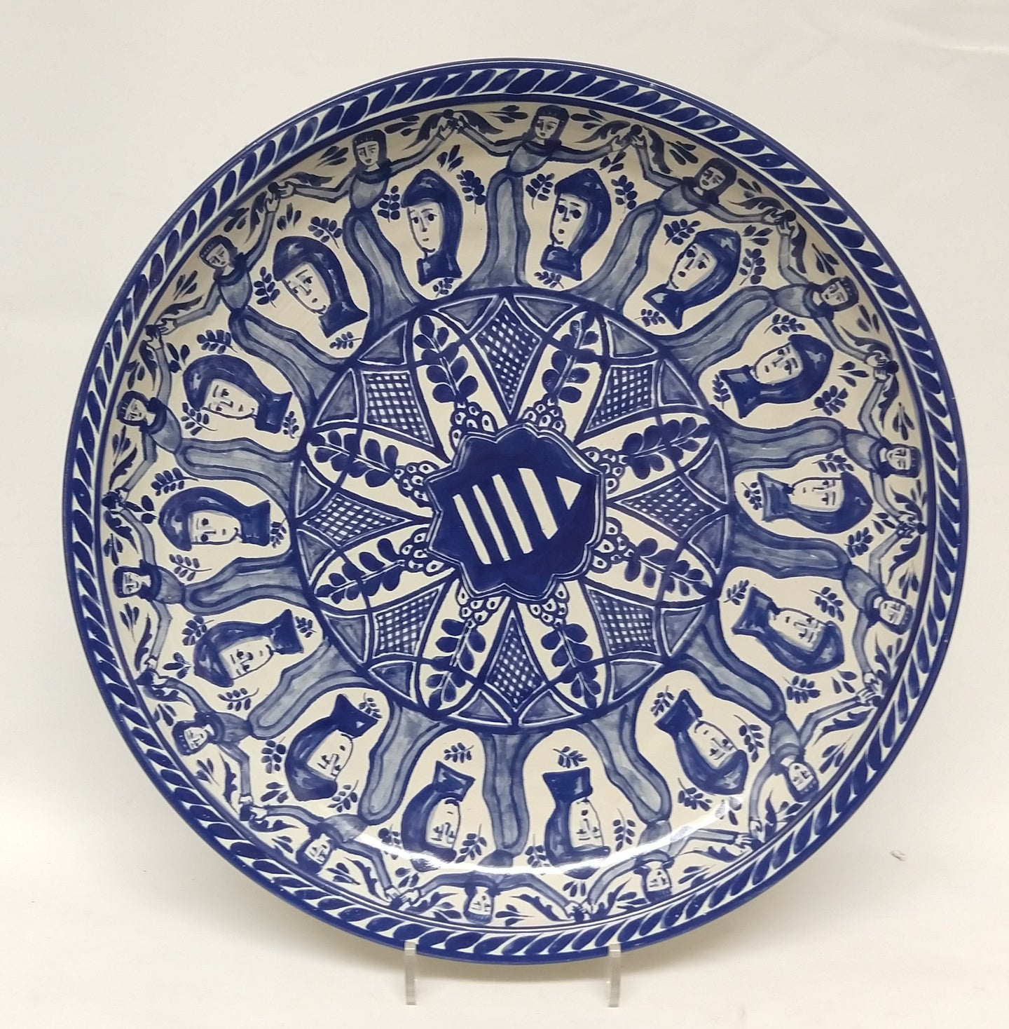 Decorative Platter Faces Pattern 17.7