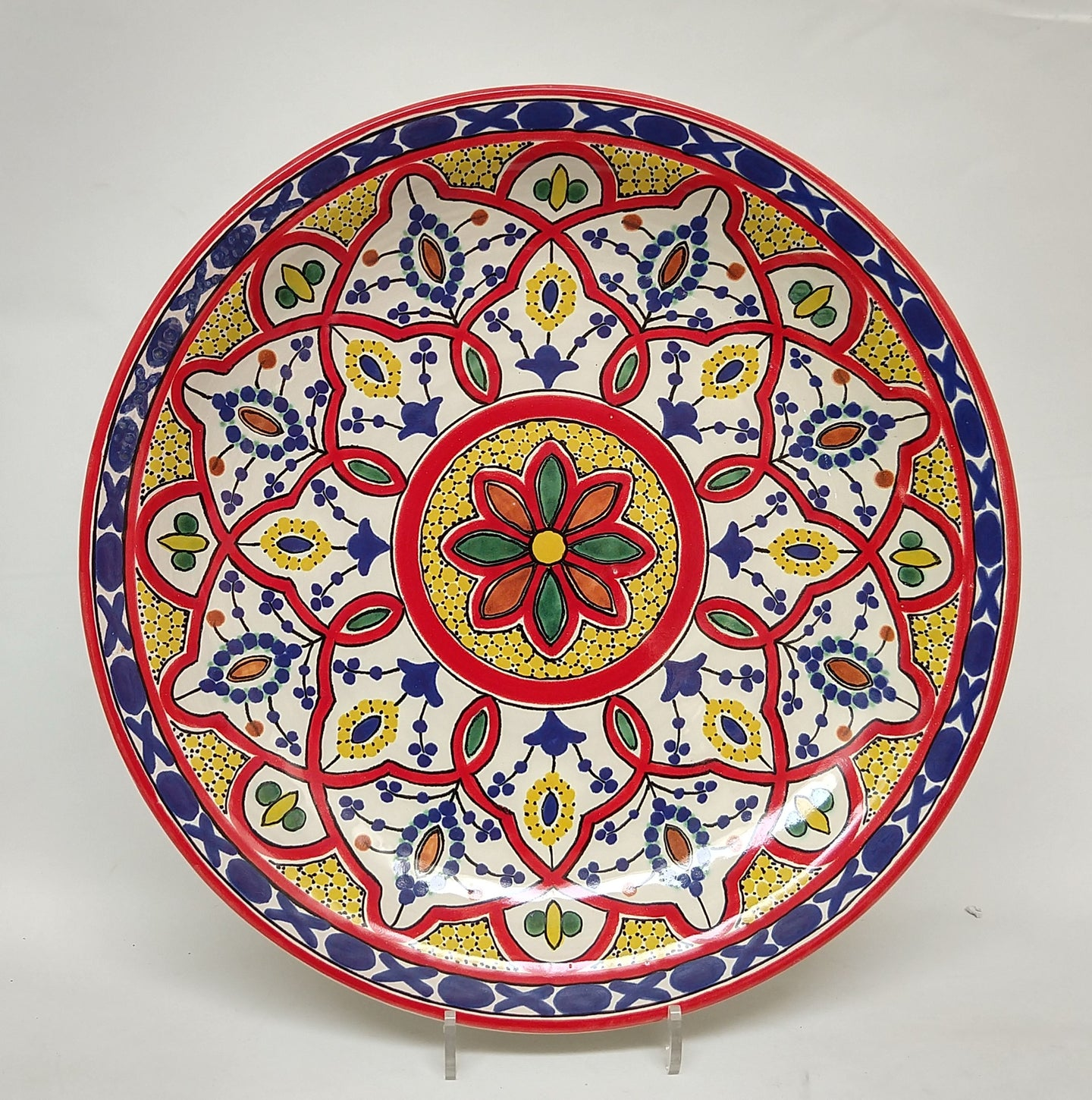 Morisco Red Platter 17.7 in Diameter