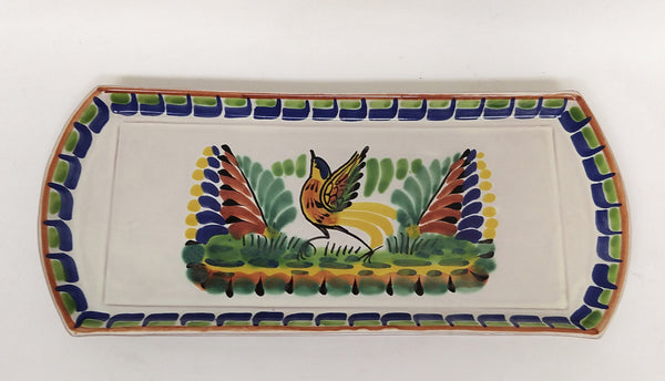 Bird Large Tray 6.1i X 14 in Blue Colors