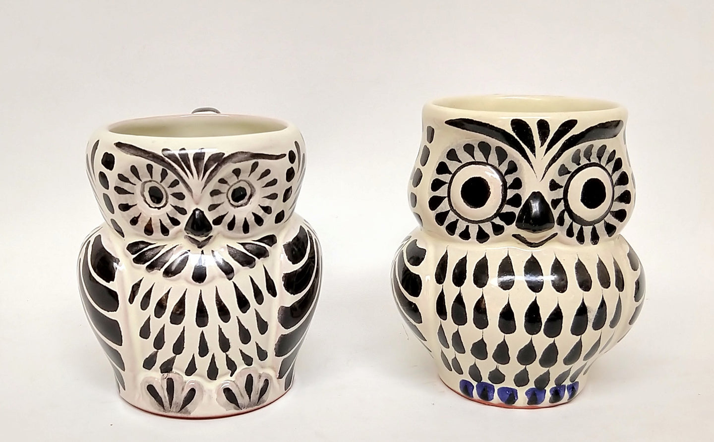 Owl Coffe Mug Set of 2 pieces 10.5 Oz Black and White