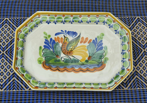 Bird Small Octagonal Tray Multicolors