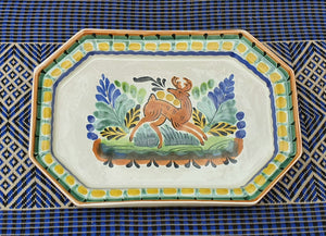 Deer Small Octagonal Tray Multicolors.
