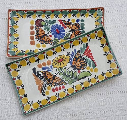 Butterfly Tray Large Rectangular Plate 15*7.5