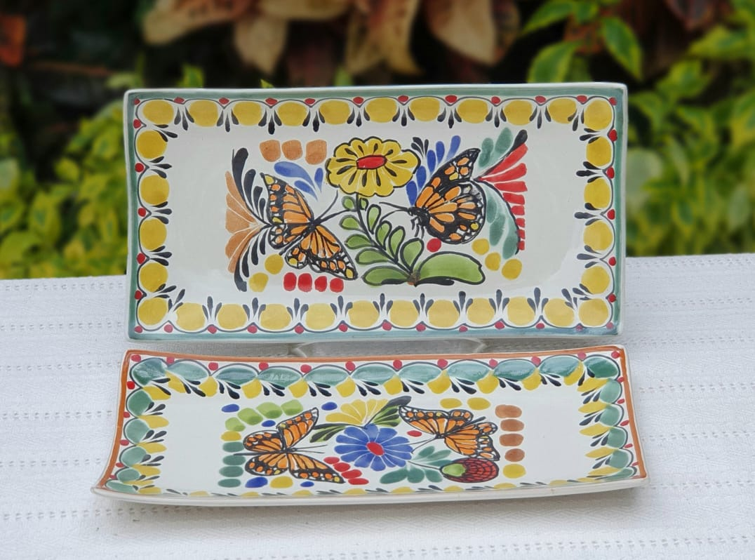 Butterfly Tray Small Rectangular Plate 11*5.7