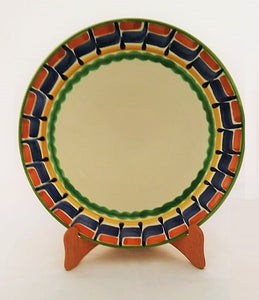 "Charger Dinner Plate 12"" D Border MultiColors"
