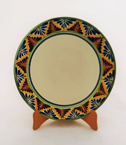 "Charger Dinner Plate 12"" D Border MultiColor"