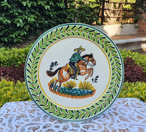 "CowBoy Dinner Plate 10"" D Multicolor"