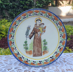 "Saint Antonio Charger Dinner Plate 12"" D Multicolor"