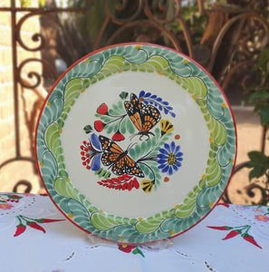 "Butterfly Charger Dinner Plate 12"" D Multicolor"