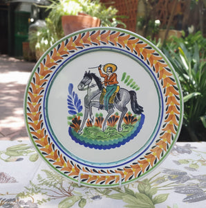 "CowBoy Charger Dinner Plate 12"" D Multicolor"