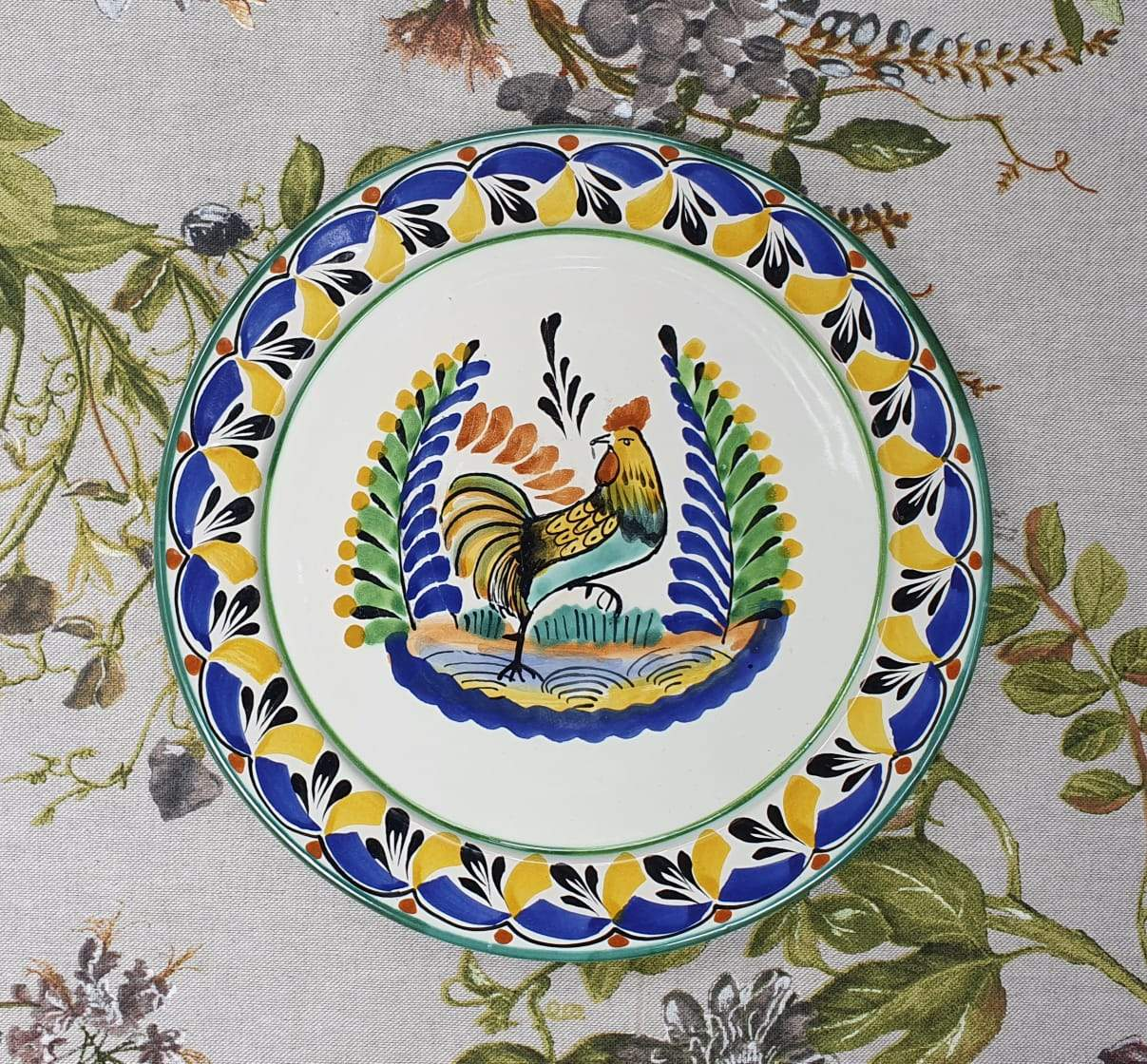 Rooster Dinner Plate 10