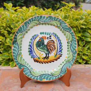 "Rooster Charger Dinner Plate 12"" D Multicolor"