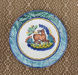 "Rabbit Dinner Plate 10"" D Multicolor"