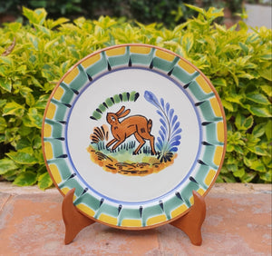 "Rabbit Charger Dinner Plate 12"" D Multicolor"