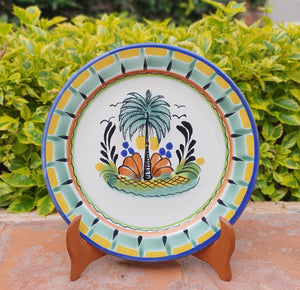"Palm Charger Dinner Plate 12"" D Multicolor"