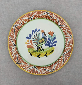 "Rooster Dinner Plate 10"" D Multicolor"