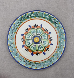 "Flower Dinner Plate 10"" D Multicolor"