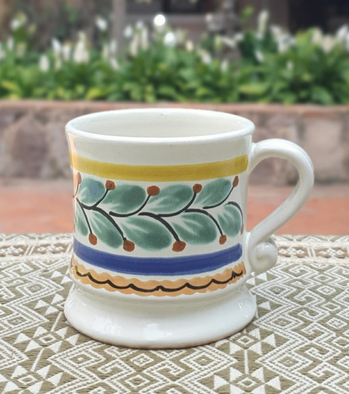 Small Traditional Coffee Mug 6 Oz Multicolor