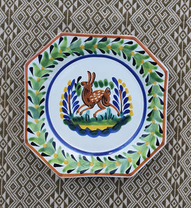 "Rabbit Mini Octagonal Plate 6.7 X 6.7"" Multicolor"