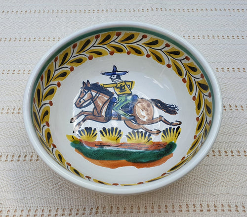 Cowboy Cereal/Soup Bowl 16.9 Oz Multicolor