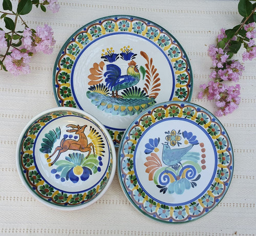 Animals Dinner Set of 3 Multicolor