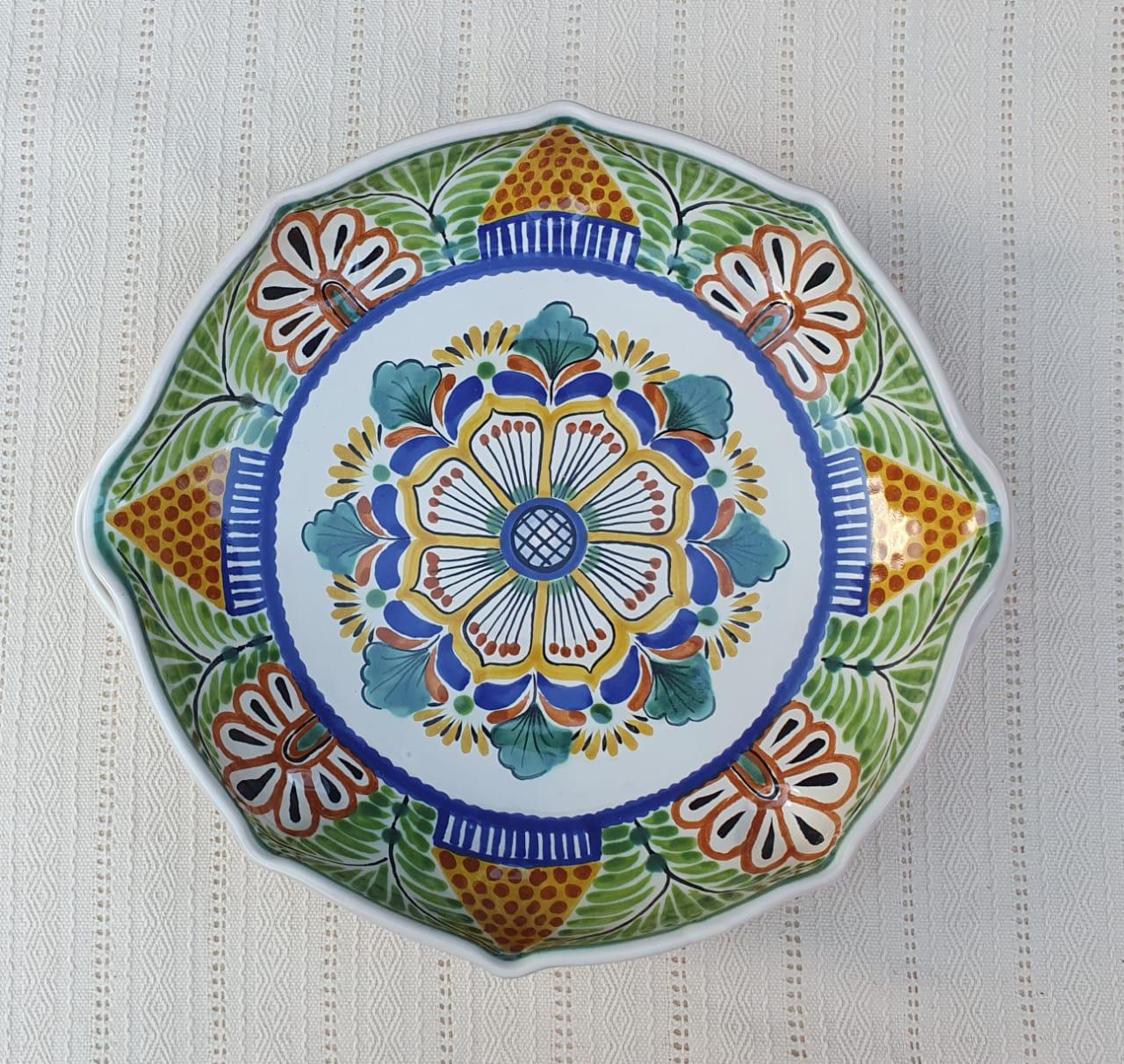 Flower Serving Octagonal Platter 14