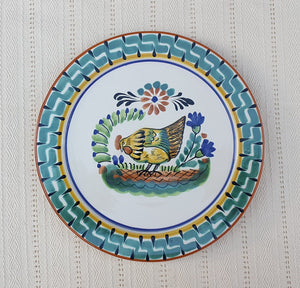 "Chicken Charger Dinner Plate 12"" D Multicolor"