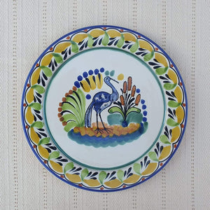 "Heron Dinner Plate 10"" Multicolor"