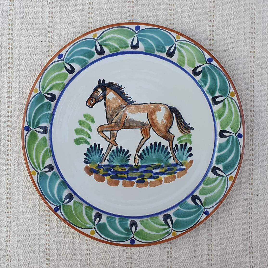 Horse Charger Dinner Plate 12
