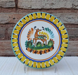 "Deer Dinner Plate 10"" D Multicolor"
