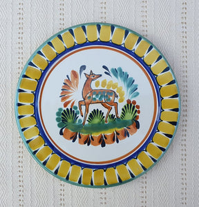 "Deer Charger Dinner Plate 12"" Multicolor"