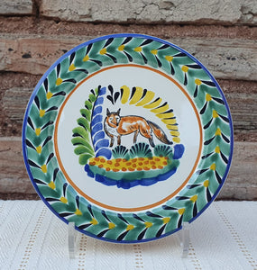 "Fox Charger Dinner Plate 12"" Multicolor"