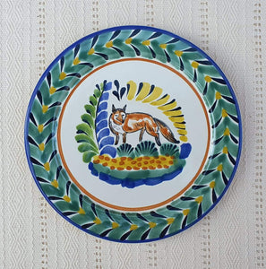 "Fox Dinner Plate 10"" Multicolor"