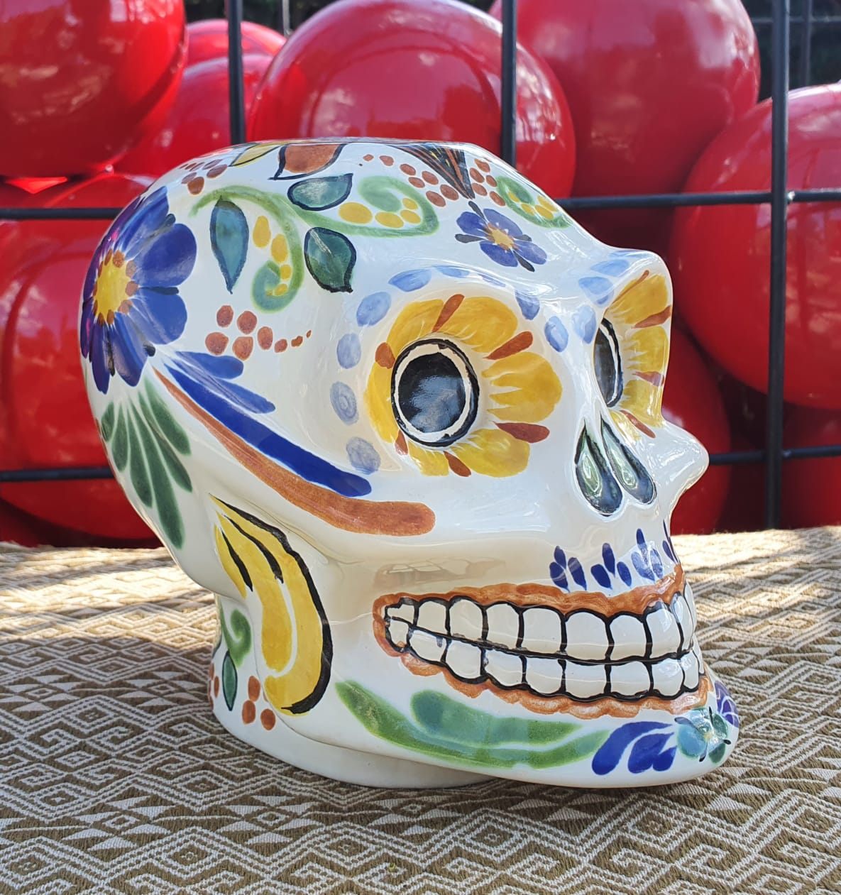 Gorky Ceramic Skull / Decorative Catrina 6