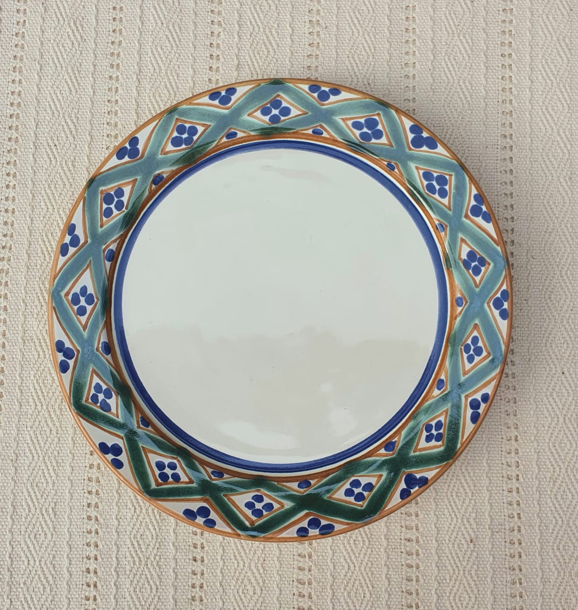Morisco Line Plates Multi-colors