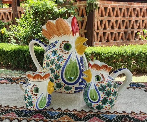 Rooster Set of 3 Multicolor