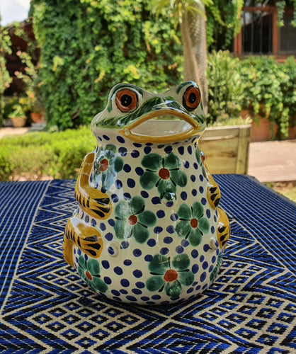 Frog Creamer Pitcher 10 Oz Multicolor