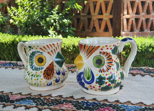 Rooster Coffee Mug 13 Oz Set of 2 Multicolor
