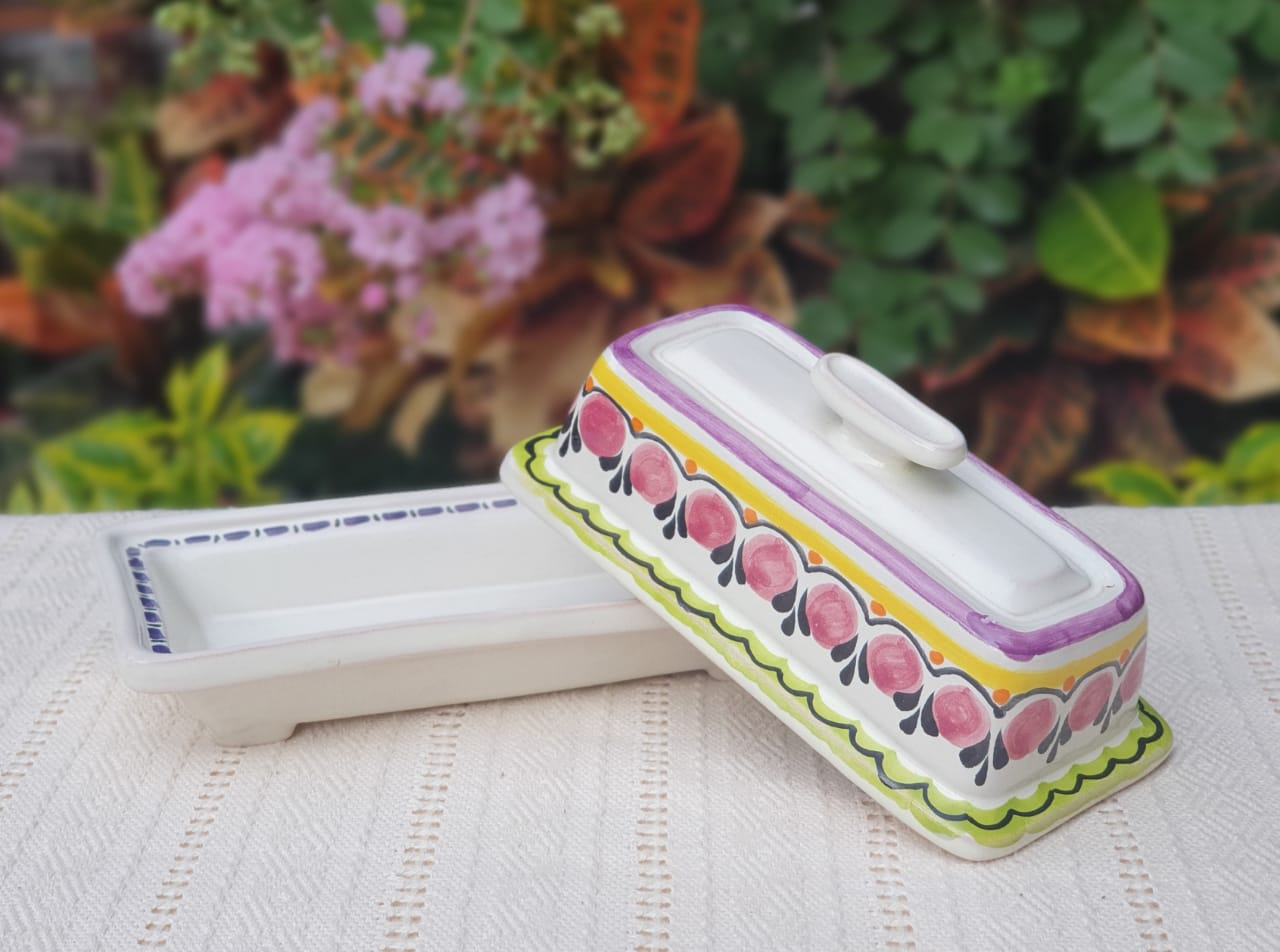 Butter Dish Purple Colors