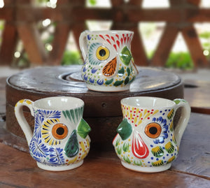 Rooster Coffee Mug 13 Oz Set of 3 Multicolors