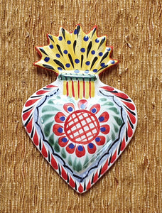 Ornament Sacred Heart Red Colors