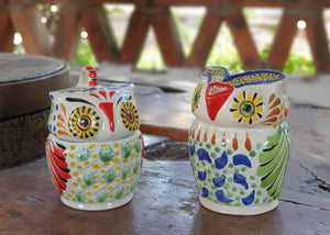 Owl Sugar & Creamer Set of 2 Multicolors