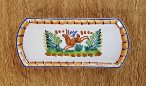 "Rabbit Large Tray 14 x 6"" Multicolors"