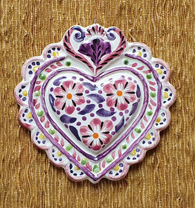 "Ornament Love Heart 5*5"" Purple"